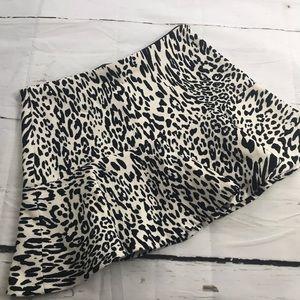 Zara Woman Cheetah Print Flare Knit Mini Skirt